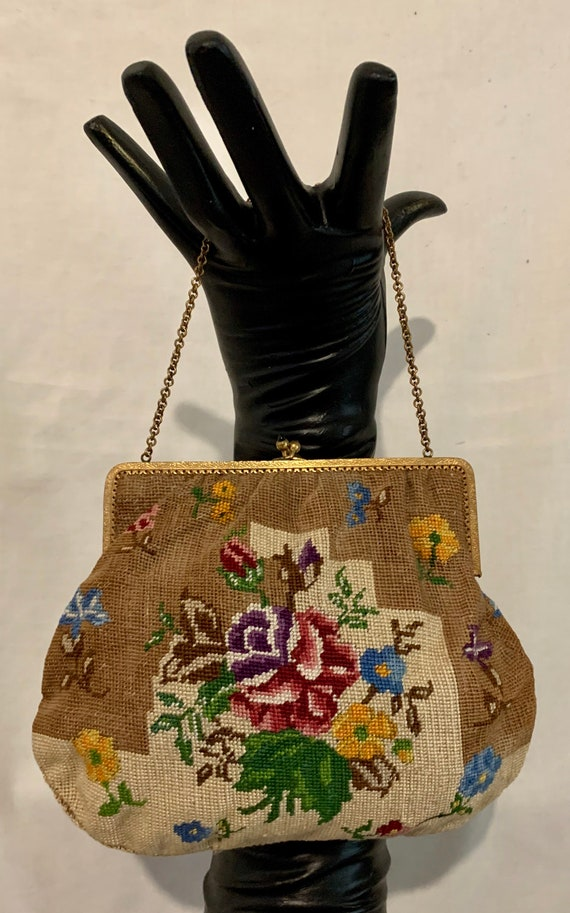 1920's hand embroidered bag - image 1