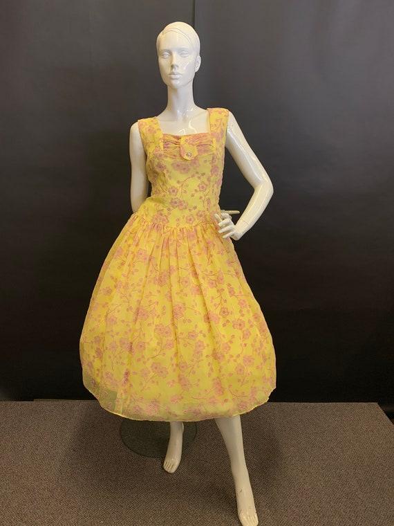 Flocked 50's dress