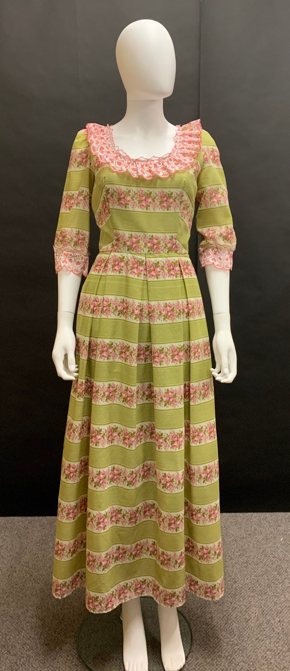 Late 70's cotton day dress