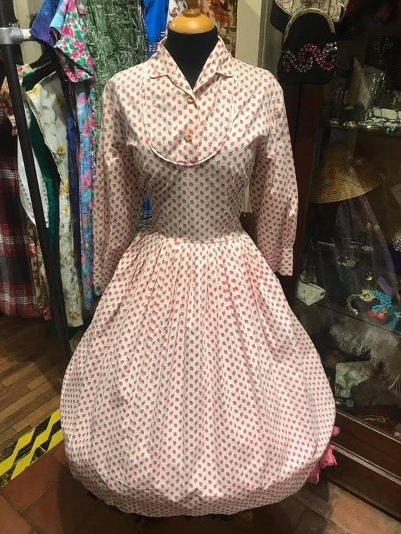 Fab 1950's novelty print dress