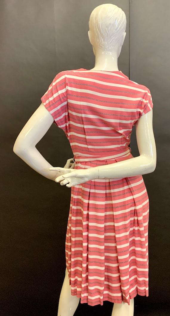 1940s cotton day dress - image 4