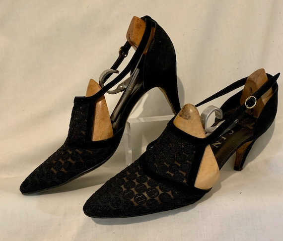 """1960s lace front """"Gina shoes"""""""