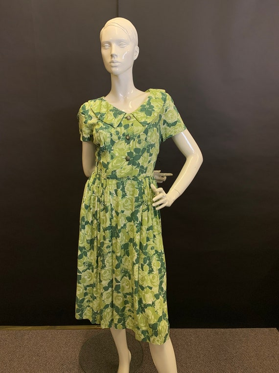 Late 40's cotton dress