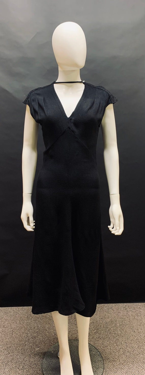 "Stunning 30's inspired 1970s ""radley"" crepe dress"