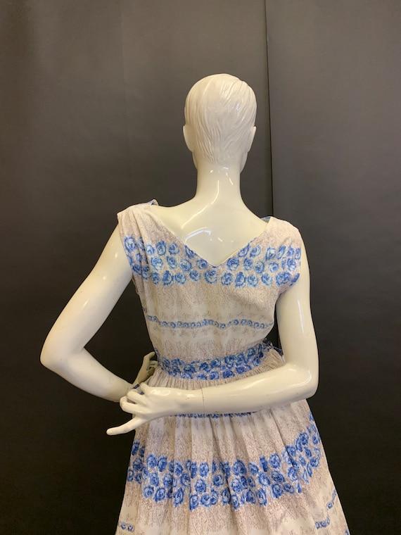 50's cotton day dress - image 4