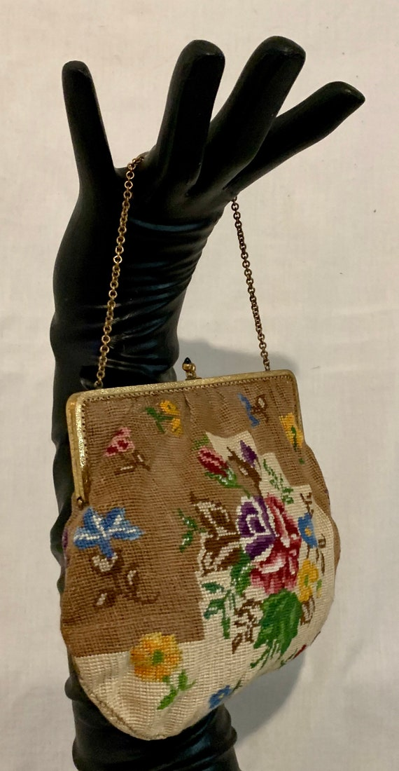 1920's hand embroidered bag - image 2
