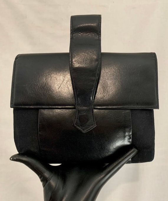 Early 40's suede and leather bag