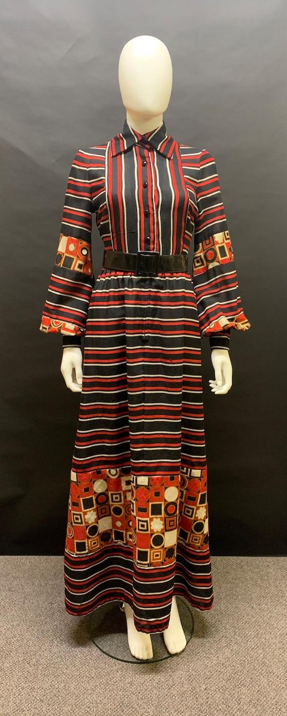 "Fab ""jean varon"" 1970's prairie style dress"