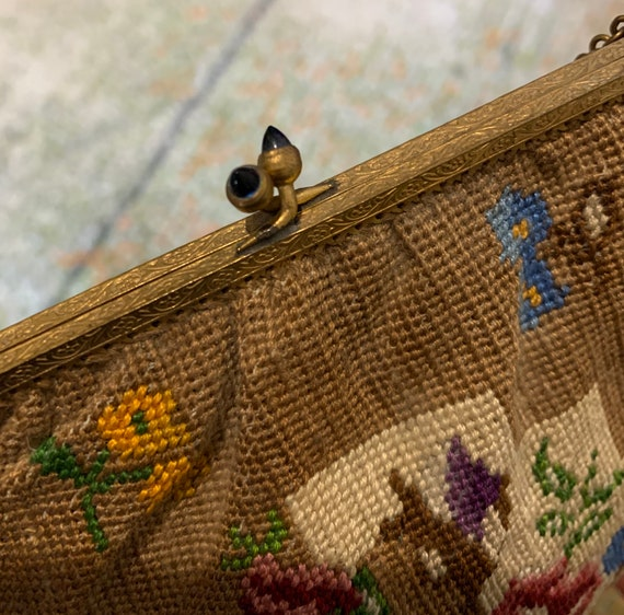 1920's hand embroidered bag - image 4