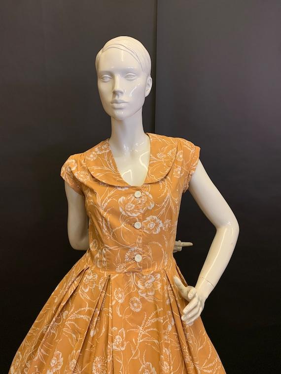50's cotton dress - image 2