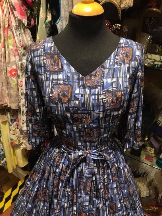 Beautiful 50's cotton dress - image 3