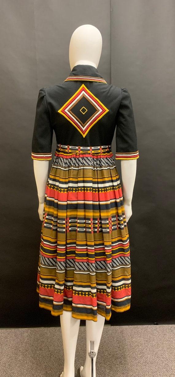 """STUNNING 70's """"jean varon"""" embroidered dress"""