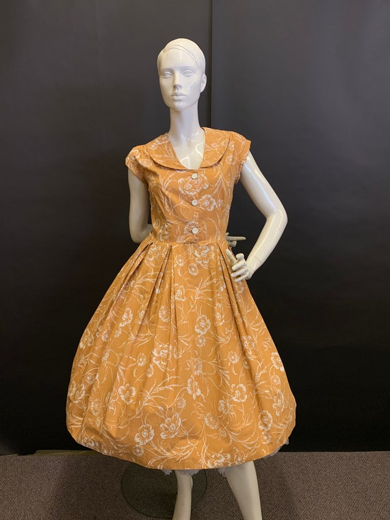 50's cotton dress