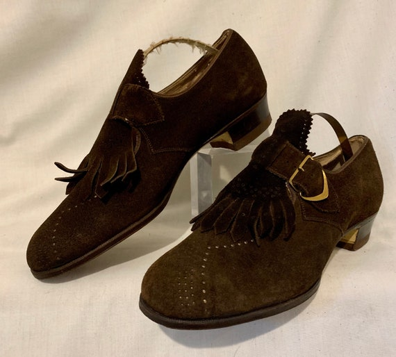 Early 1940s suede shoes