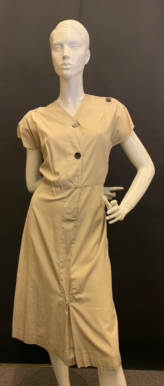 Late 30's cotton dress - image 1