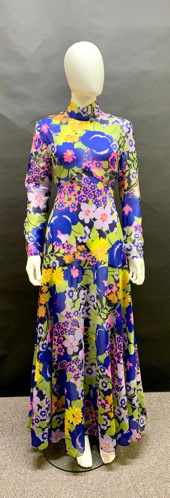 "Beautiful ""frank usher"" 70's maxi dress"