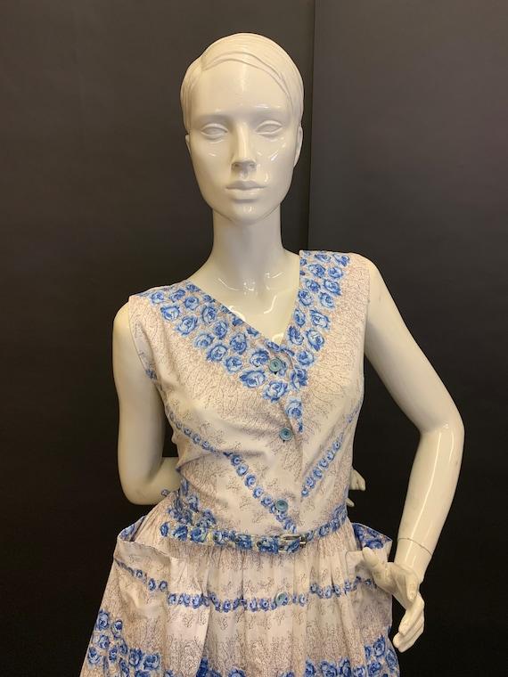 50's cotton day dress - image 2