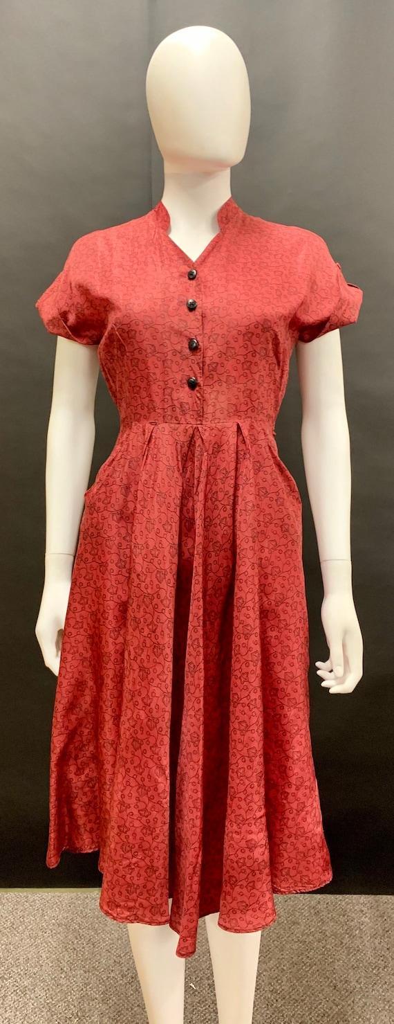 1940s rayon day dress