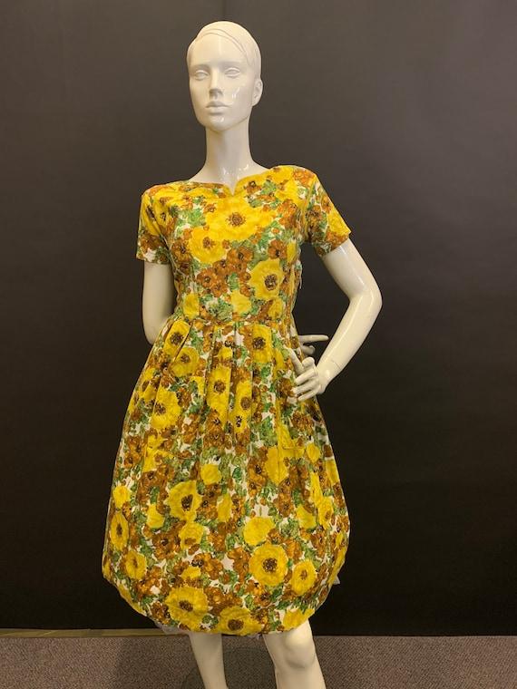 50's cotton day dress