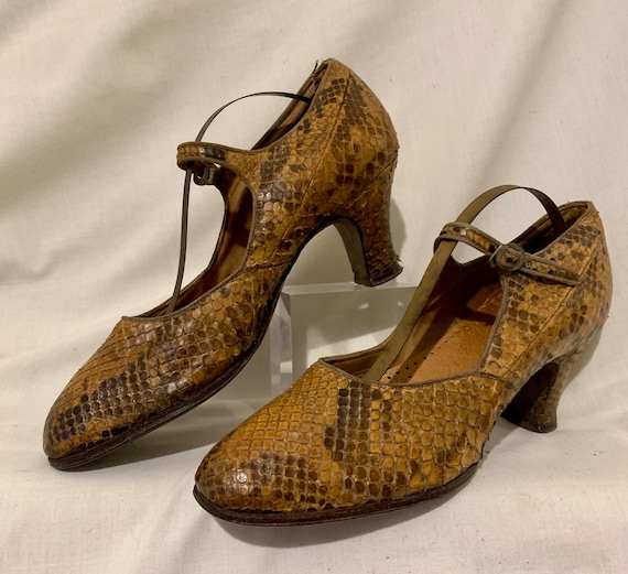 1920s snakeskin shoes