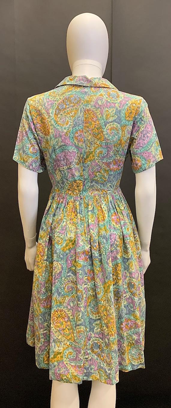 1940s cotton day dress - image 7