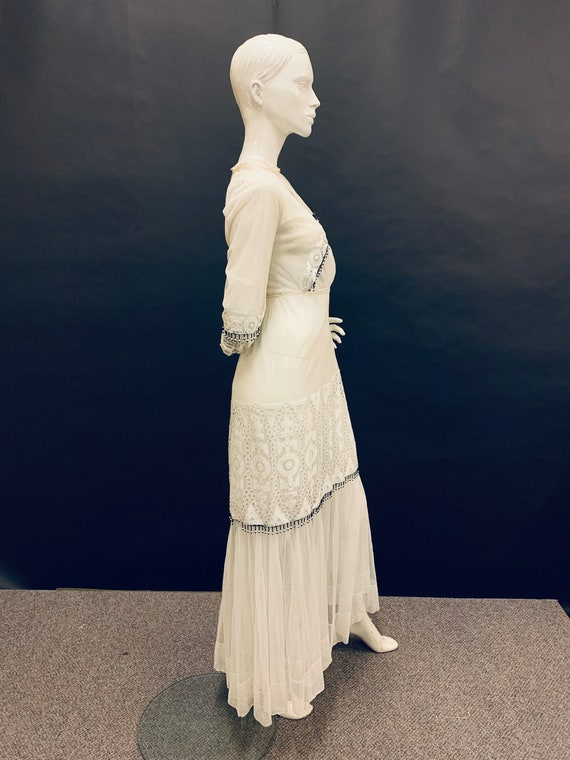 Edwardian hand embroidered dress - image 5