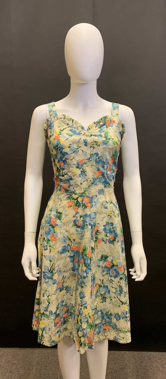 1940s cotton sun dress