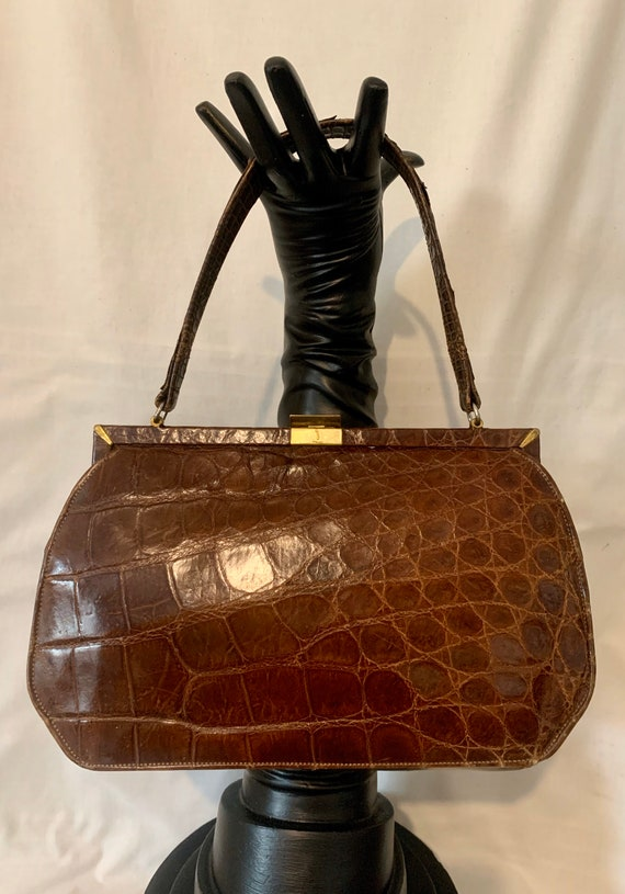 40's crocodile handbag