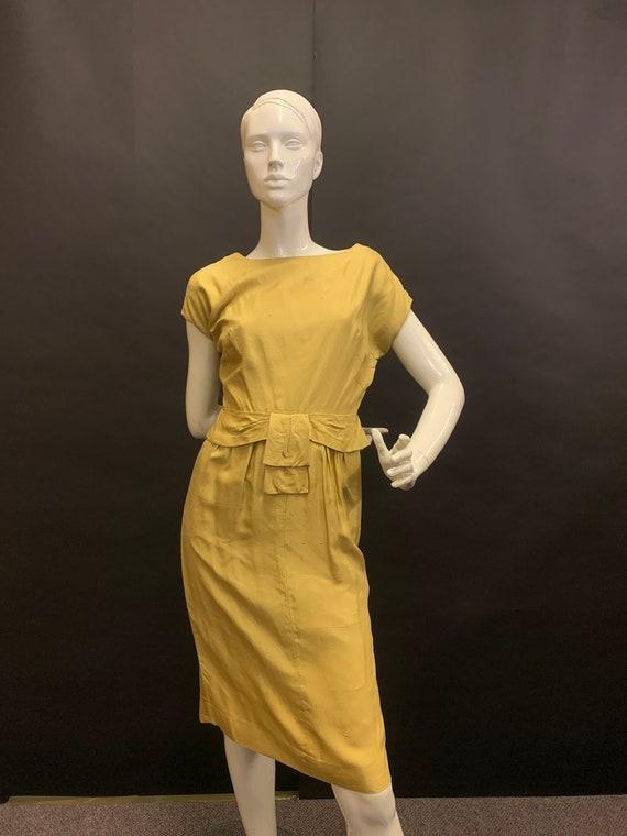Late 50's silk wiggle dress