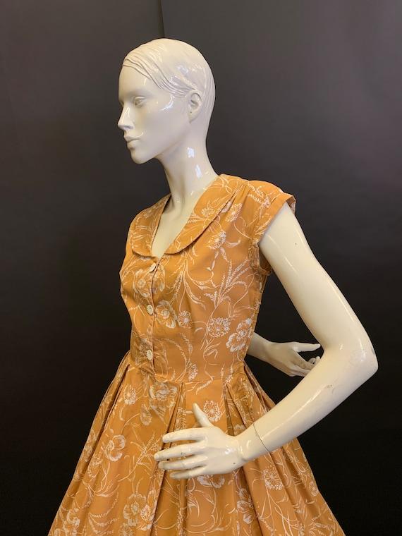 50's cotton dress - image 3