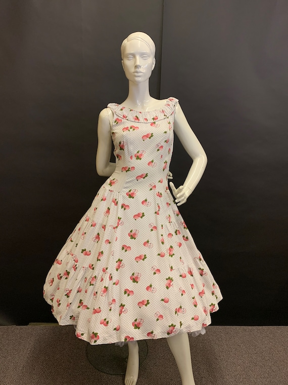 Novelty print 50's dress