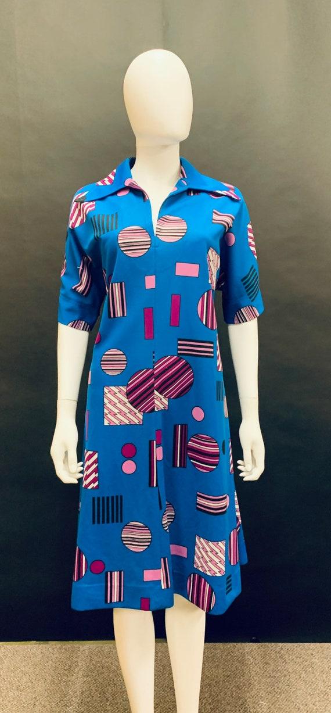 Lovely volup 60's crimplene day dress