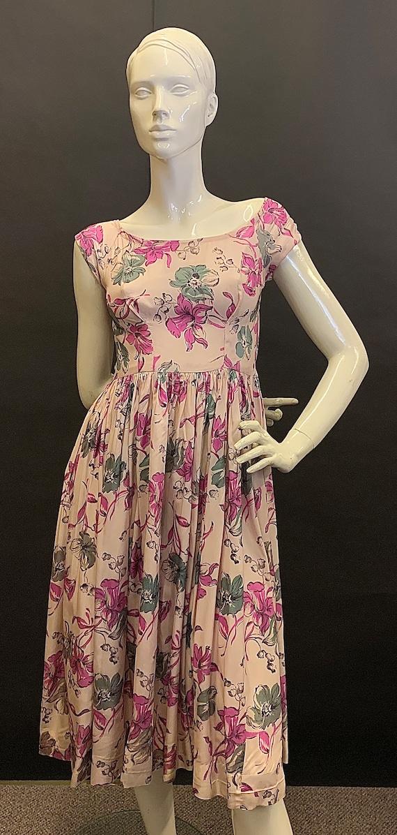 Stunning rayon 1940s dress
