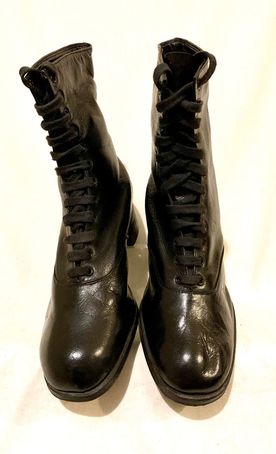 Edwardian lace up boots