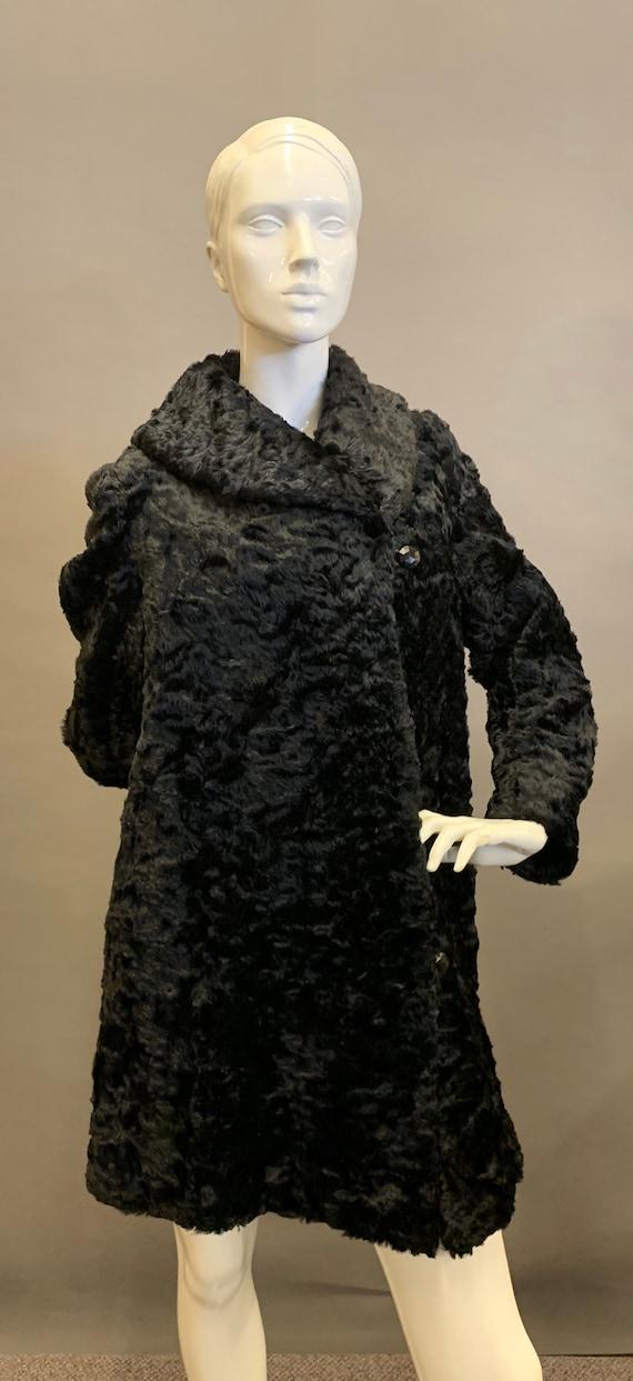 Edwardian faux fur coat