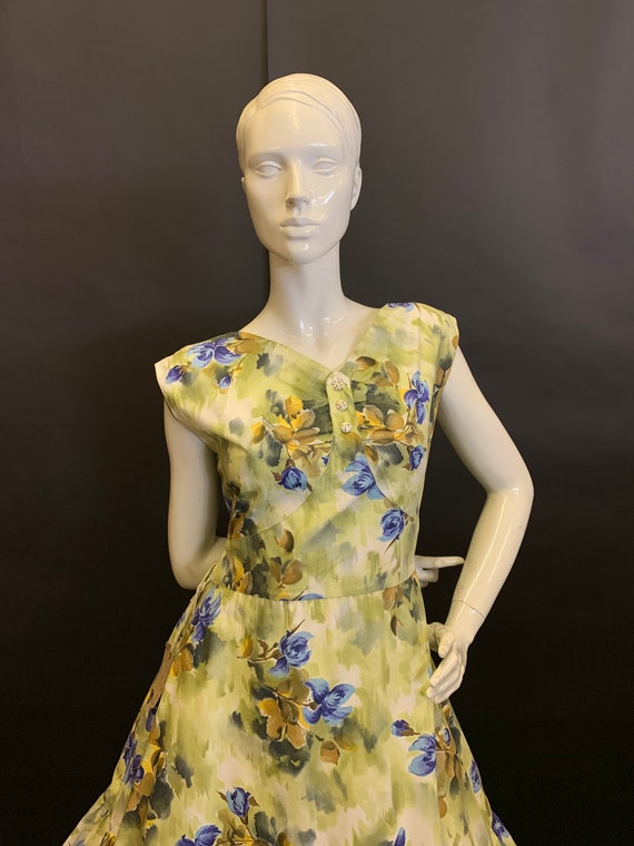 50's cotton day dress - image 2