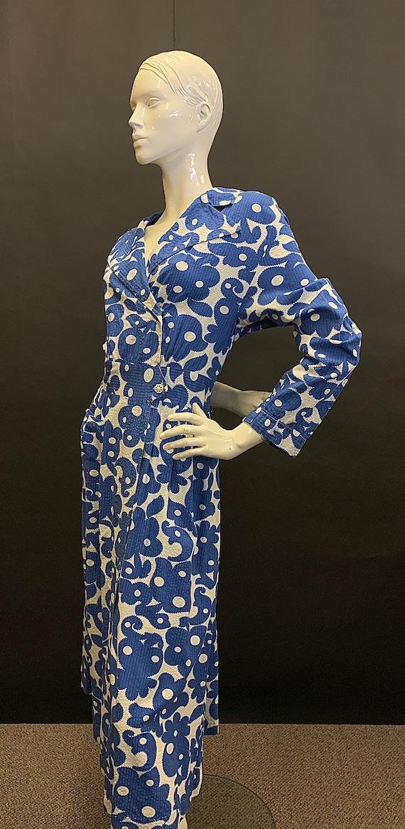 Volup 1950s seersucker dress - image 4