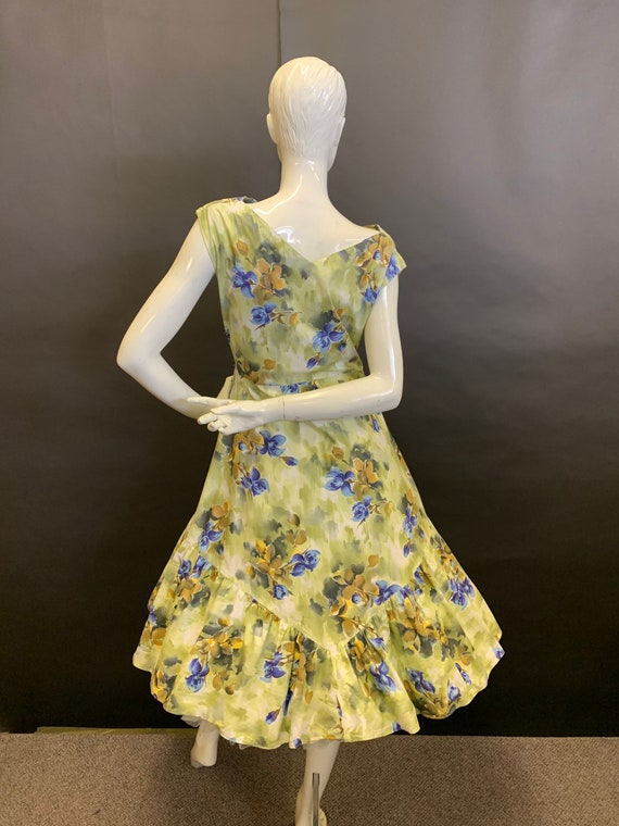 50's cotton day dress - image 7
