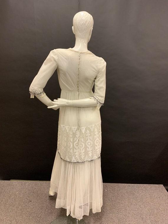 Edwardian hand embroidered dress - image 4