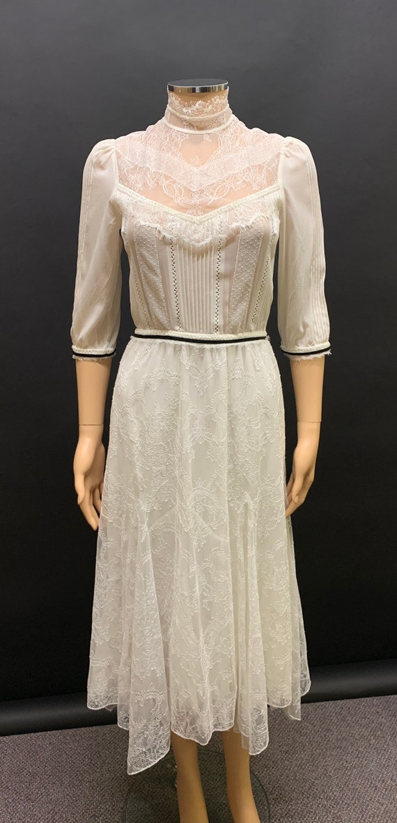 "Edwardian style ""Alice and Olivia"" lace dress"