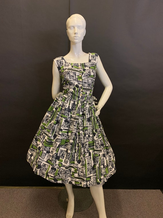 50's atomic print cotton