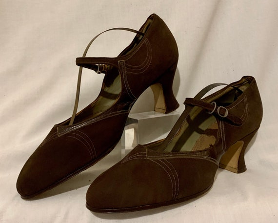 1920s suede shoes