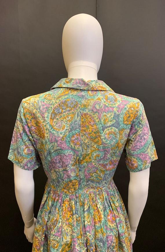 1940s cotton day dress - image 6
