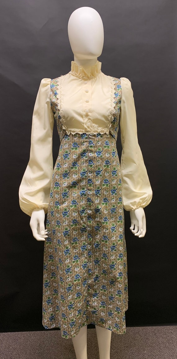 Pretty 1970s prairie dress
