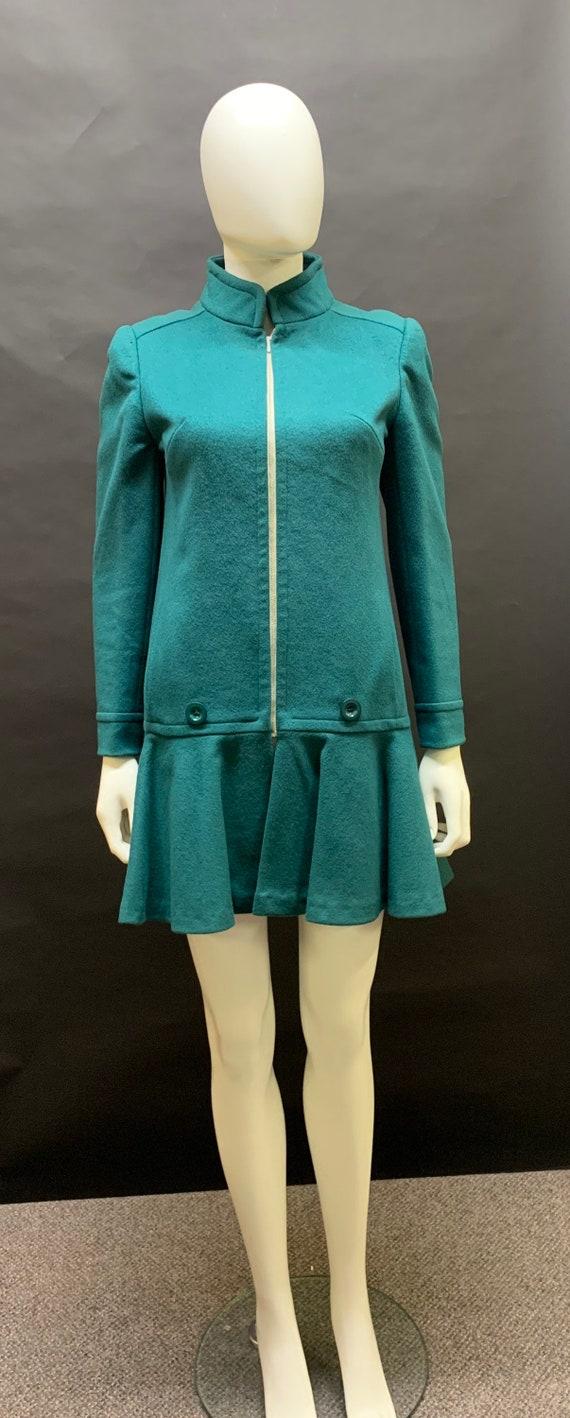 "60's ""Mary Quant"" wool mod dress"