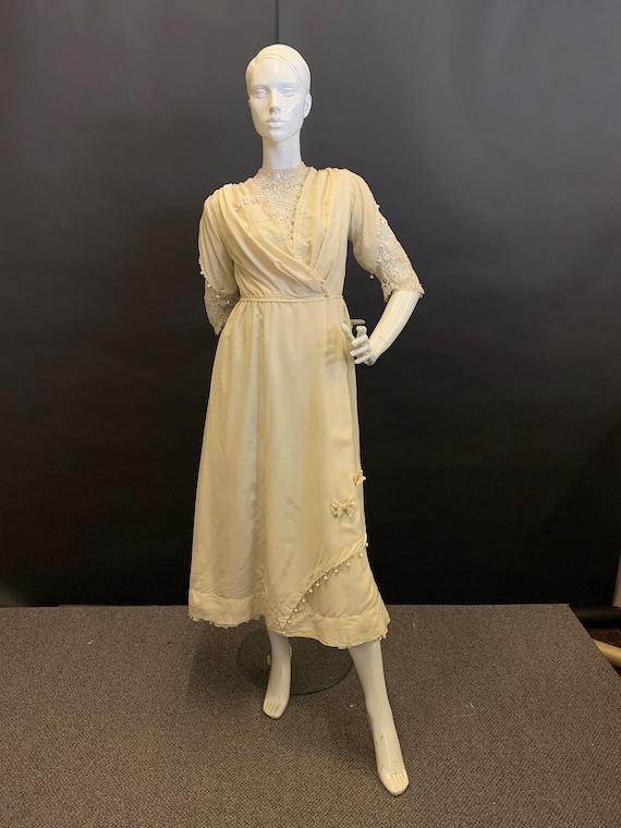 Silk Edwardian dress