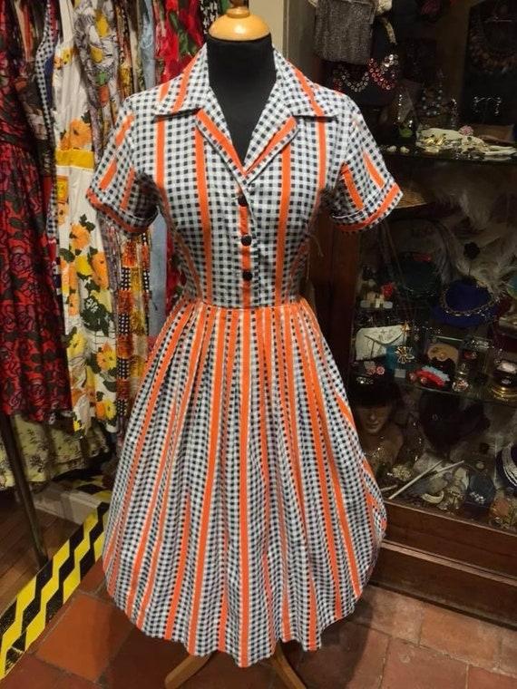 1950's cotton shirt waister