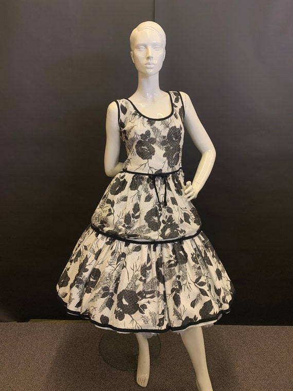 50's cotton dress - image 1