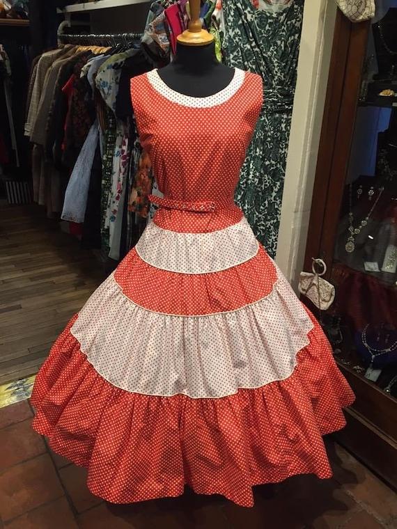 STUNNING 1950s pinup dress - image 1
