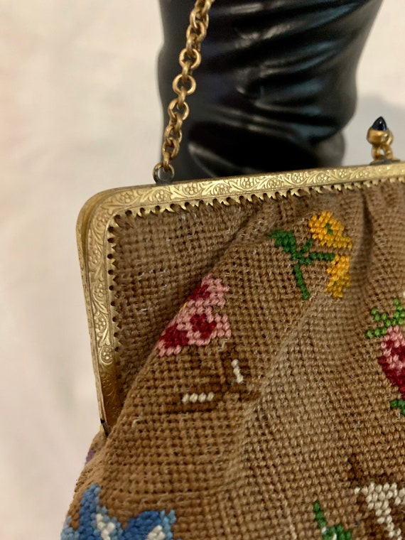 1920's hand embroidered bag - image 7